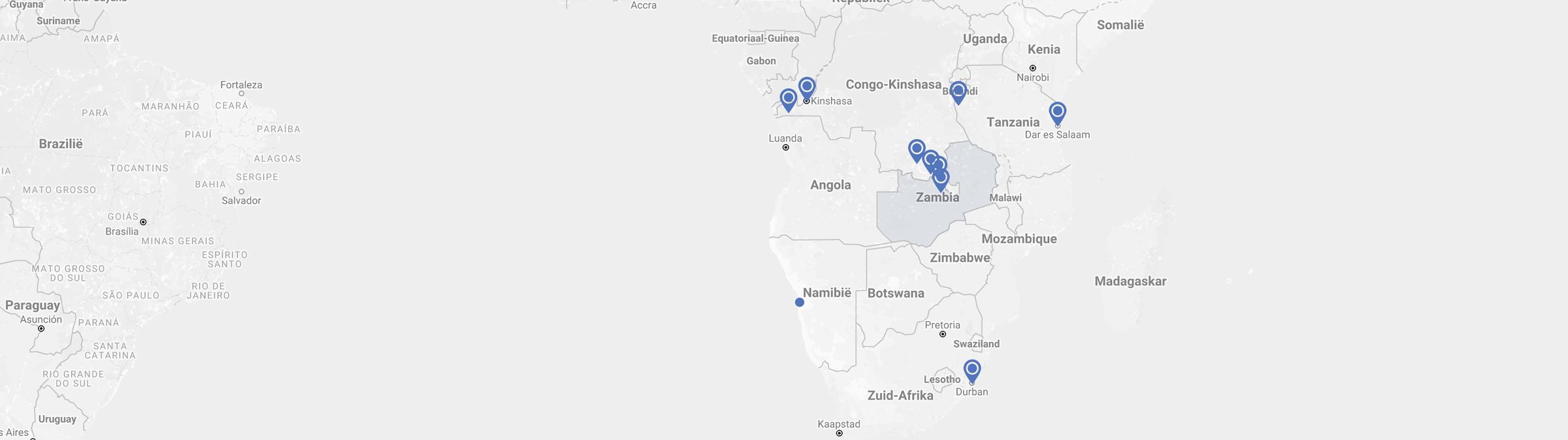 Maps Polytra Zambia